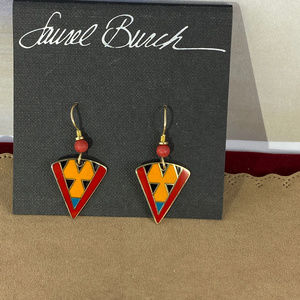 Vintage LAUREL BURCH Enameled RANYA Earrings